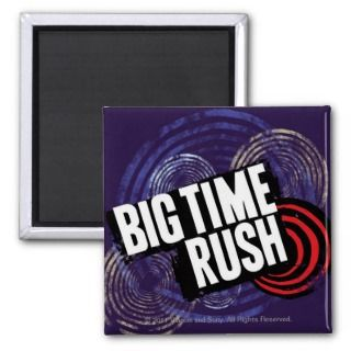 Big Time Rush Logo   Purple Refrigerator Magnets