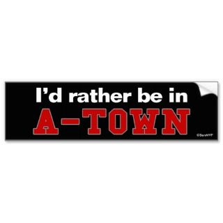 Rather Be In A Town Bumper Sticker