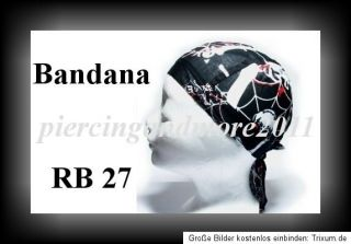 Bandana FREIE AUSWAHL Cap Kopftuch Zandana Biker Rocker Rockabilly