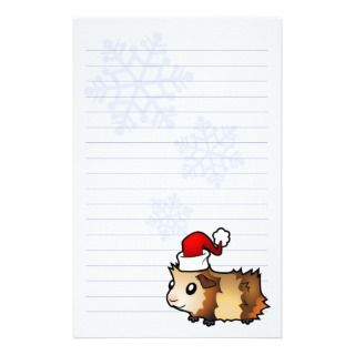 Christmas Guinea Pig (multi colored) Stationery