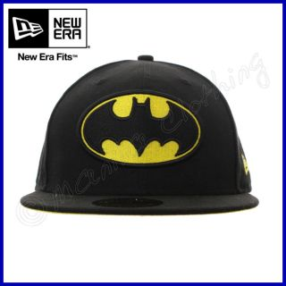 NEW ERA Cappello 59FIFTY Cap BATMAN Basic Badge BASEBALL Nuovo DC