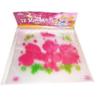 Disney Princess   12 Storage Bags   Zip Seal printed   Plastikbeutel