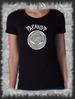 Retro, T Shirt Black Sabbath Paranoid Rock Pop, Vintage distressed