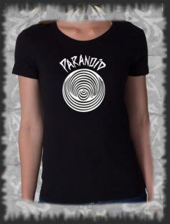Retro, T Shirt Black Sabbath Paranoid Rock Pop, Vintage distressed