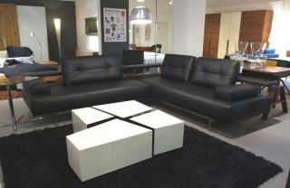 rolf benz leder sofa l sob bs 2400 98 257 neu ovp. Black Bedroom Furniture Sets. Home Design Ideas