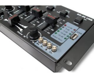 DJ MIXER 3/4 KANAL PARTY PA MISCHPULT USB MP3 PLAYER STEREO MIC IN