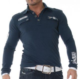 MegaTRenDy Polo Stripe SweAT LongSleeve Shirt M 303 4