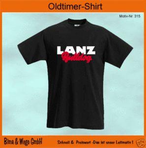 LANZ BULLDOG Oldtimer Logo T Shirt alle Größen 315