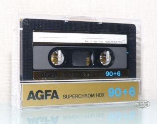 AGFA Superchrom HDX 90 + 6 aus 1985 audio MC Kassette cassette tape