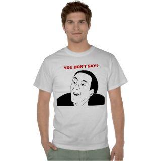 Nicholas Cage Meme Face Tshirts