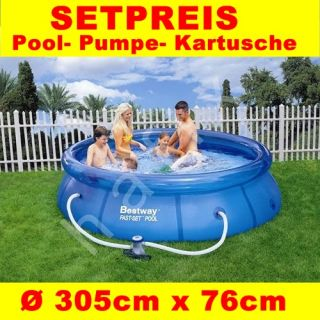 Bestway Fast Set Pool Swimmingpool Schwimmbad 305x76 cm