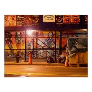 East Village Graffiti Poster