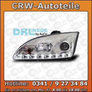 TOP Scheinwerfer Set LED Tagfahrlicht Ford Focus II C307 chrom R87