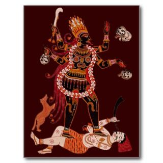Goddess Kali postcards