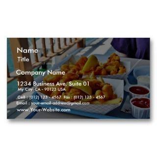 Fried Fish French Fries The Fishette On Harbo Business Card