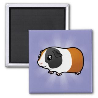 Cartoon Guinea Pig (smooth hair) Fridge Magnet