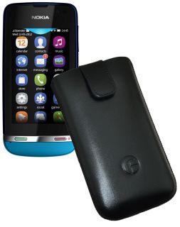 Nokia Asha 311   Original Favory Handyhülle Case Etui Tasche SCHWARZ