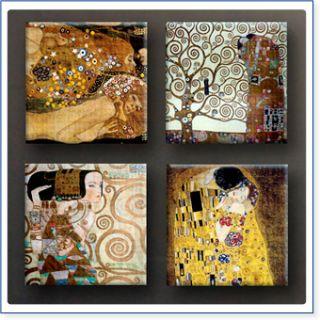 Riesen Gustav Klimt Der Kuss SET 4 pcs 40x40cm Kunstdrucke Druck