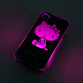 Hello Kitty Sense Flash light LED LCD Color Changing Case Cover For