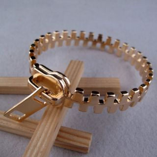 New Fashion Women Punk rock Unique zipper ZIp fastener style bangle