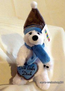 Keep Cool Bär Plüsch Eisbär mit Herz Ich liebe Dich, Stofftier zum