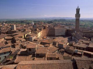 Piazza Del Campo and Palazzo Pubblico, Siena, UNESCO World Heritage Site, Tuscany, Italy, ope Photographic Print by Patrick Dieudonne