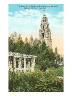Museum of Man Tower, Balboa Park, San Diego, California Posters