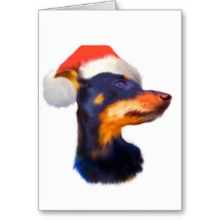 of he Miniaure Pinscher dog breed will adore his swee Chrismas