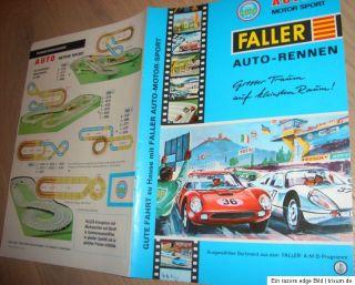 Faller AMS Autorennbahn Original Prospekt 1967 slot car no carrera