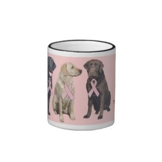 Labrador Retriever Breast Cancer Mug