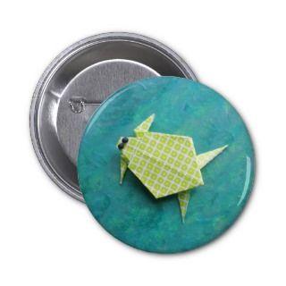Origami turtle pin