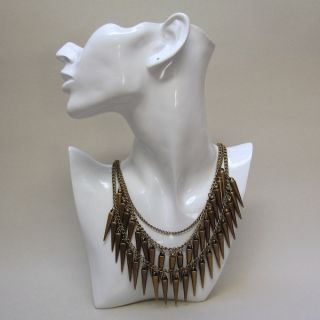 Stachel Kette Punk Style Blogger spikes statement necklace