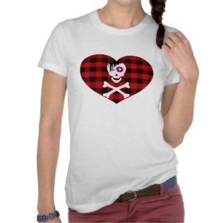 Cute Emo Skull I Love Emo Tshirts