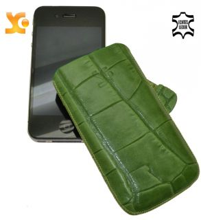 SunCase Etui   Leder Tasche LUXUS Case für iPhone 4S / 4 S 64 GB in