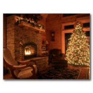 Log Cabin Chrismas Card