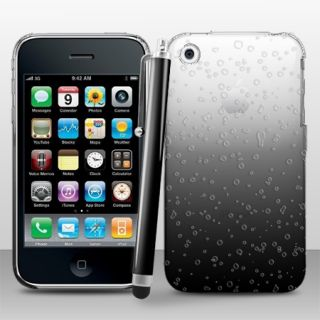 3D Regen Tropfen Hard Case Cover Für Apple iPhone 3G/3GS + Stift