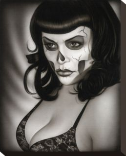 Dead Gina Stretched Canvas Print by Spider (Artist)