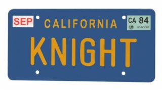 Supercar Knight Rider Michael Knight KITT Nummernschild License Plate