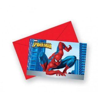 Spider Man Einladungskarten 6 Stk Küche & Haushalt