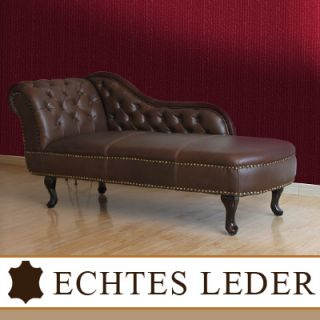 Chesterfield Recamiere Chaiselongue Lounge Chaise Leder