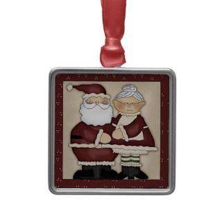 Santa y señora Claus Christmas Keepsake Gift Adornos de