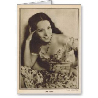 Lupe Velez Silent movie star Greeting Cards