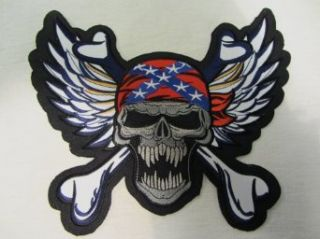 Biker Aufnäher,Biker Patch,Südstaaten Biker Skull,Rückenaufnäher