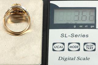 GELEGENHEIT AUS PRIVATBESITZ #200 ANTIKER RING GOLD 750 31 DIAMANTEN