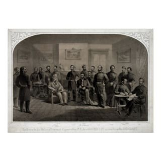 Lihograph of he Surrender of General Lee a he Appomaox Cour
