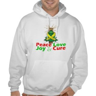 Bladder Cancer Peace Love Joy Cure Sweatshirts