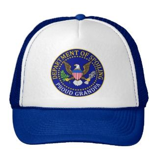 Department of Spoiling   Proud Grandpa Mesh Hat