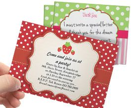Throwing a sweet party? Save big with 27% off strawberry invites in