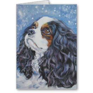 Cavalier King Charles Spaniel Christmas Greeting Cards, Note Cards and