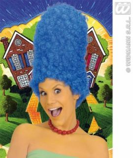 Turmfrisur Perücke blau Comic Frisur Cartoon Marge Simpson Perrücke